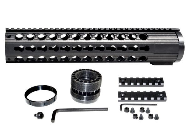 """12.375"""" .308 LR 308 DPMS LOW Free Float Handguard Rail w/ KeyMod Slots, Extra Wide ID 1.935"""""""