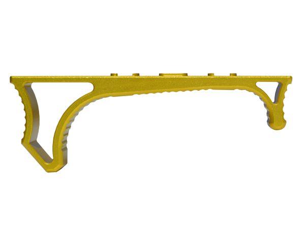 Aluminum Hand Stop for M-LOK Handguard Rail Slot, Gold color