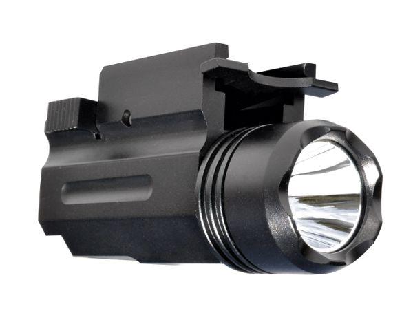 LED Tactical Light, 160 Lumens, Rail-Mounted, Battery included, 5 modes