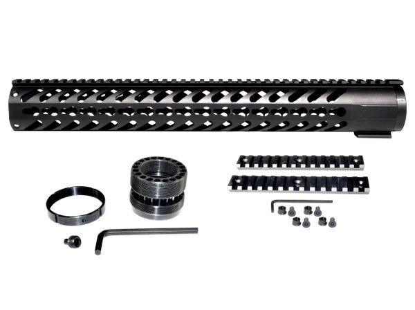 "16.5"" KeyMod Free Float Handguard for AR-15 2.23 / 5.56, Wide I.D. 1.75"""