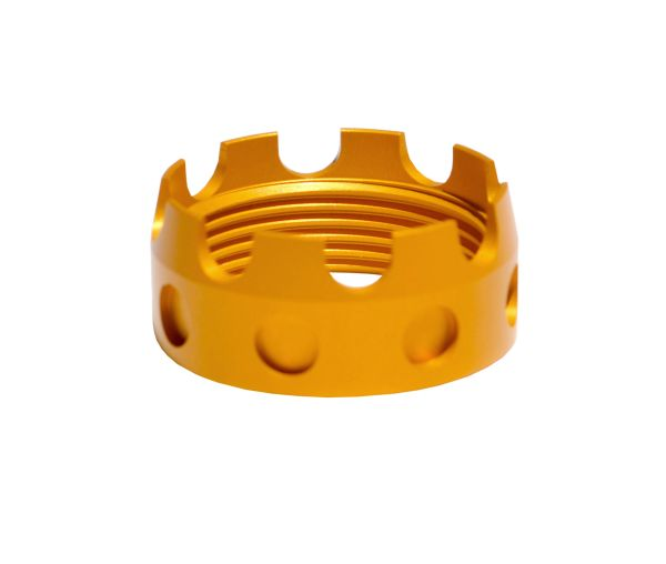 AR 7075-T6 Crown Aluminum Castle Nut, Gold color