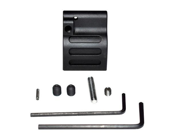 "0.625"" Adjustable Low Profile Gas Block, Steel, Black (GBA625)"