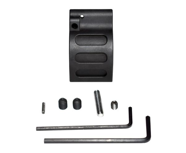 "0.875"" Adjustable Low Profile Gas Block, Steel, Black (GBA875)"