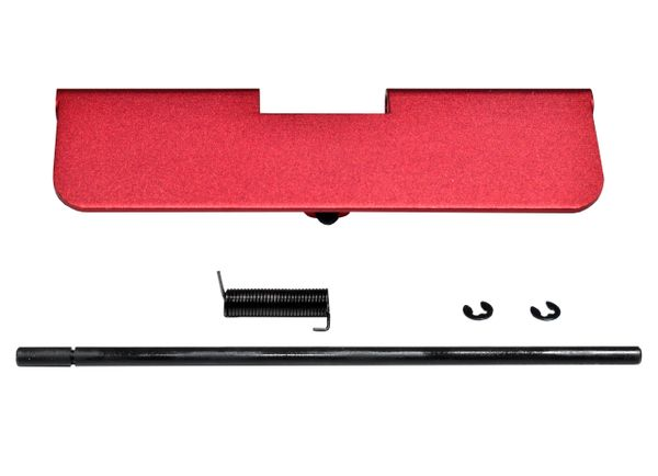 AR-15 Ejection Port Dust Cover Assembly, Aluminum - Red color