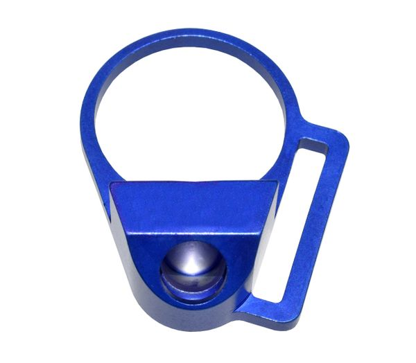 """Receiver End Plate with 45 degree hole for Sling Swivel Adapter Button, 1"""" Sling Adapter, Dark Blue"""