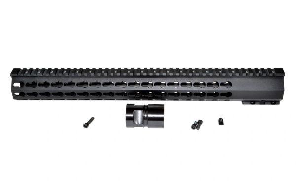 "16.5"" Presma AR-15 .223 KeyMod Free Float Handguard, Steel Barrel Nut"