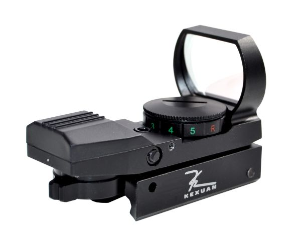 Kexuan Mini Reflex Red/Green Dot Sight - 4 Reticle Patterns, Picatinny Mount
