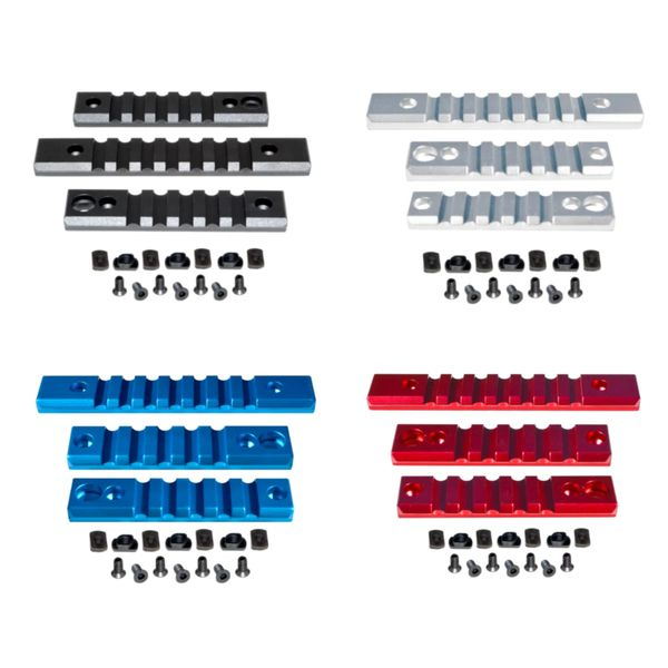 M-LOK to Picatinny Adapter Rail KIT for MLOK Handguard Rails - 2 x 5 slot, 1 x 7 slot