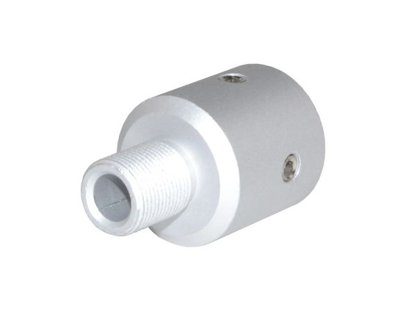 """1/2""""x28 Muzzle Thread Adapter for Ruger 10/22, Aluminum, Silver color"""