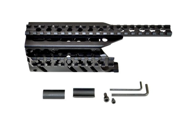 Ruger Mini 14 / Mini 30 Handguard Quad Rail Scope / Accessory Mount System - Aluminum - Black
