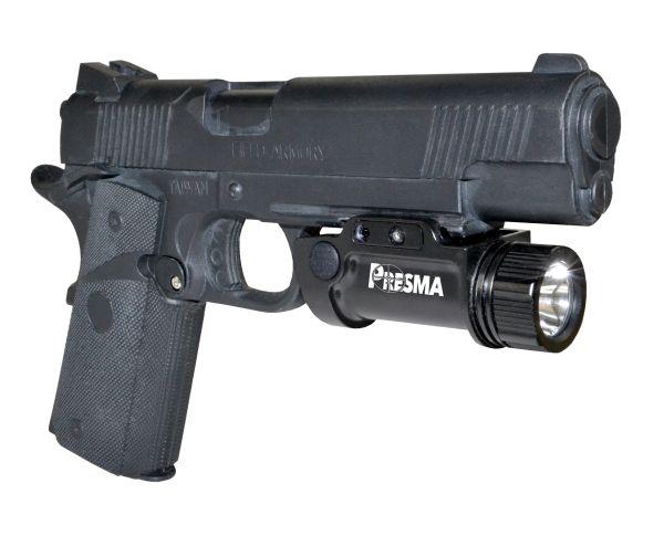 Presma Pistol / Handgun Tactical Light (1000 Lumens, Rail-Mounted, Rechargeable)