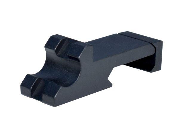 45 Degree Offset Picatinny Rail, Single Slot - Aluminum - Black