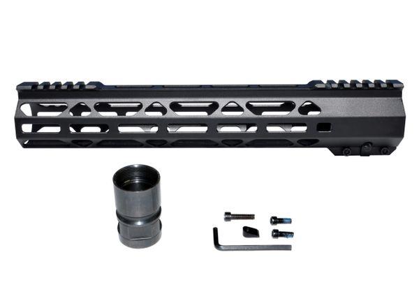 """12.5"""" LR 308 DPMS HIGH .308 Super Light M-LOK Free Float Handguard Rail w/ Split Top Rail"""
