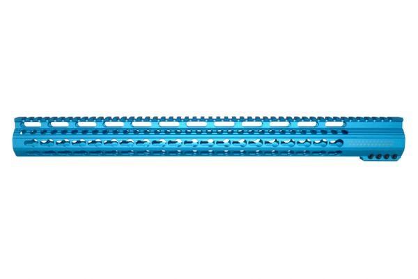 "19.25"" Electric Blue KeyMod Free Float Handguard for AR-15 2.23 / 5.56"