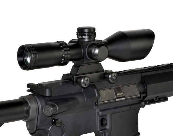Eastvale 2.5-10X40 40mm Compact Rifle Scope w/ Mount Included, Red/Green/Black Mil-Dot Reticle