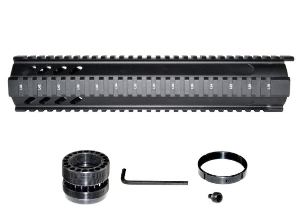 """12"""" Free Float Quad Rail Handguard Forend w/ Extended Top Rail for AR-15 .223/5.56- Picatinny"""