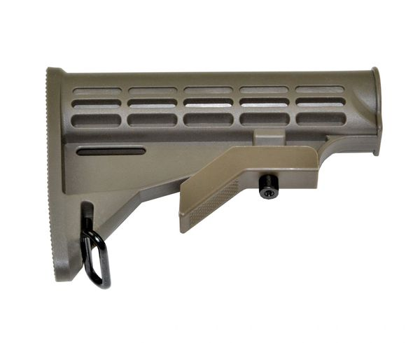 AR15 Mil Spec Adjustable Buttstock - Green