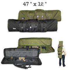 Carbine Double Rifle / Gun Case, Nylon - Black or Green