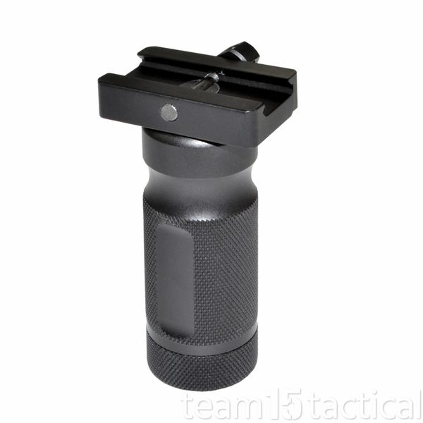 Stubby Foregrip Grip, Fixed Vertical, All Aluminum - Black (GP01S)