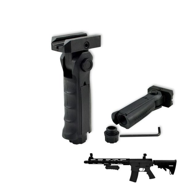AR15 Foregrip Grip, 5 Position Adjustable, Polymer for Picatinny Handguard - Black (GP02)