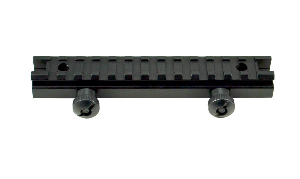 "13 Slot 0.48"" Low Profile Picatinny Riser Mount for Scopes or Accessories - 20mm Picatinny Rail (standard size)"