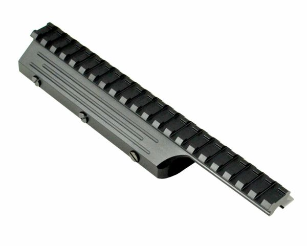 """FN FAL Forend Top Rail Forend Mounting System, 8.5"""", Picatinny, 21 slots, Aluminum, Black"""