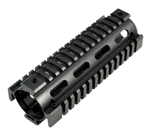 "6.7"" Carbine 2pc DROP-IN Length Aluminum Handguard Quad Rail - 2 Piece, 6.7"" (AR-15 .223)"