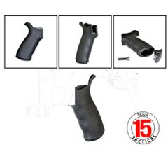 AR15 Rear Pistol Grip, Beavertail, Polymer with Rubberized Coating