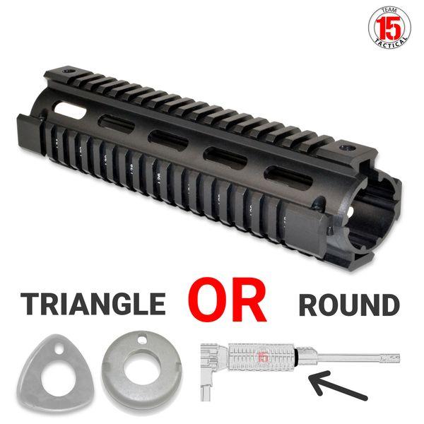 """AR 308 2pc 8.75"""" MID-LENGTH Drop-In Handguard, 6061-T6 Aluminum"""