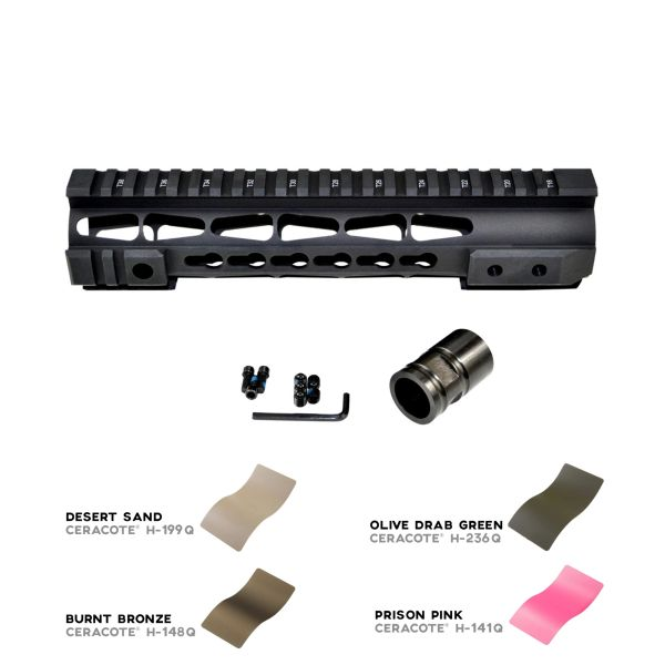 """10"""" Presma LR-308 .308 10"""" INCH Free Float Handguard Rail Mount with KeyMod - Fits DMPS Low Profile Uppers"""