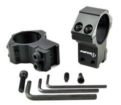 DOVETAIL 30mm Dia. HIGH Profile Scope Rings - Aluminum - Black