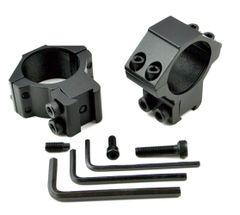 DOVETAIL 30mm Dia. MEDIUM Profile Scope Rings - Aluminum - Black
