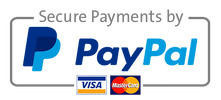 PayPal logo with text secure payments