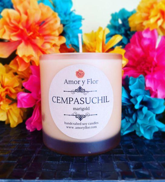 Cempasuchil (clear jar)