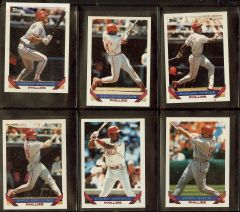 1993 Phillies Baseball Cards , (20)
