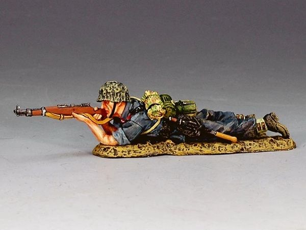 KING AND COUNTRY, LW024, 1/30, LYING FIRING RIFLEMAN, (BOXED)