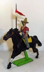UNKNOWN MANUFACTURER, DTM1, 1/32, MEXICAN LANCER, (DEETAIL HORSE, (UNBOXED
