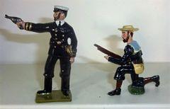 UNKNOWN MANUFACTURER, BN1, 1/32, BRITISH NAVAL BRIGADE, 1880'S, (UNBOXED