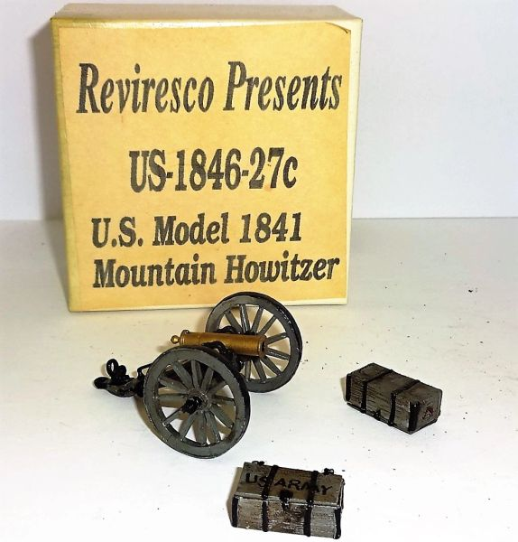 REVIRESCO, US-1846-27C, 1/32, US MODEL 1841 MOUNTAIN HOWITZER, (BOXED)