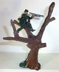 STARS AND STRIPES, SSBS2, 1/32, BERDAN SHARPSHOOTERS, SNIPER IN TREE, 1860'S (UNBOXED)