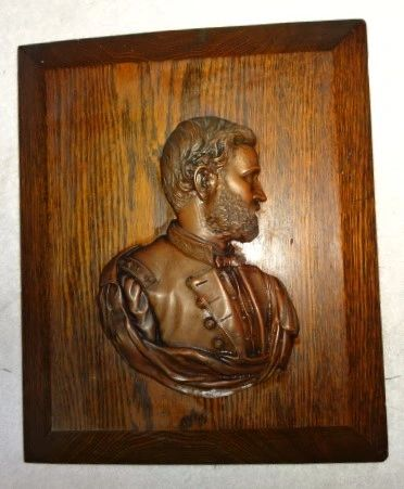 "CW Original U. S. Grant 7"" x 10' Bronze plaque, by A.E. Woolf, 1885"