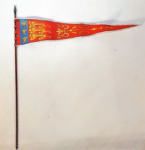 ST PETERSBURG, FLENG1, 1/32, ENGLISH MONARCH BANNER, 1346, (UNBOXED)