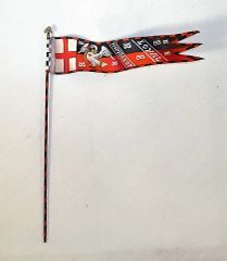 ST PETERSBURG, FLENG2, 1/32, ENGLISH, DUKE OF BUCKINGHAM BANNER, 1346, (UNBOXED)