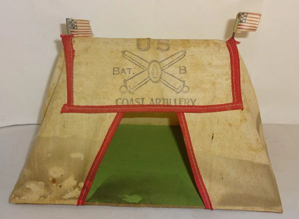 BRITAINS, TENT1, 1/32, US BATTERY B, COASTAL ARTILLERY (UNBOXED)