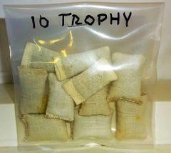 TROPHY, TROPBAG, 11/32, 10 CLOTH BAGS, (UNBOXED)