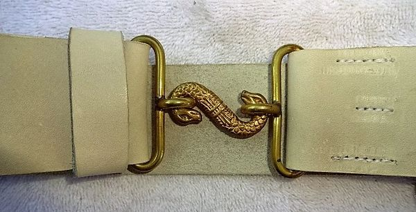 "CW repro, Serpent Buckel with 40"" White belt"
