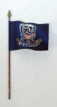 FLAG, 8THNY, 1/32, ST. PETERERSBURG, 8th N Y, CAVALRY, CIVIL WAR (UNBOXED)