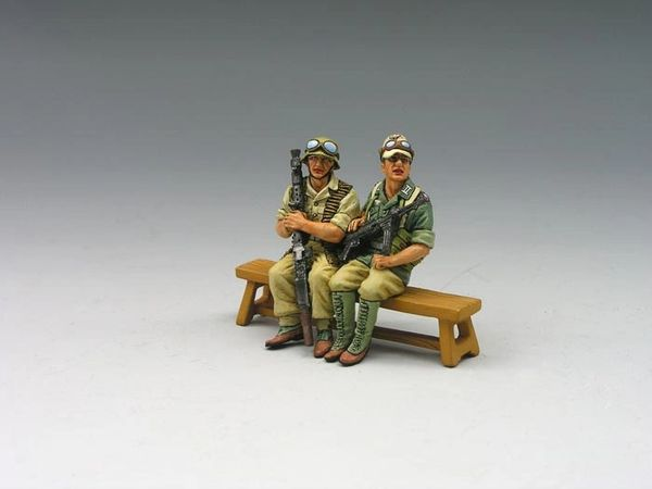 KING AND COUNTRY, AK045, 1/30, SEATED AFRICA KORP (NO BENCH) (BOXED)