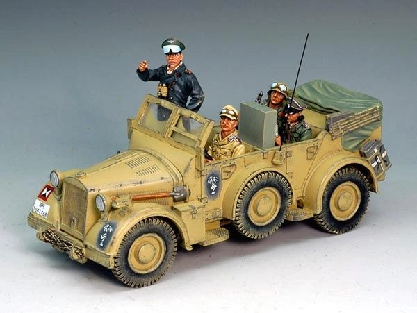 "KING AND COUNTRY, AK046, 1/30. ""ROMMEL"" COMMAND CAR (BOXED)"