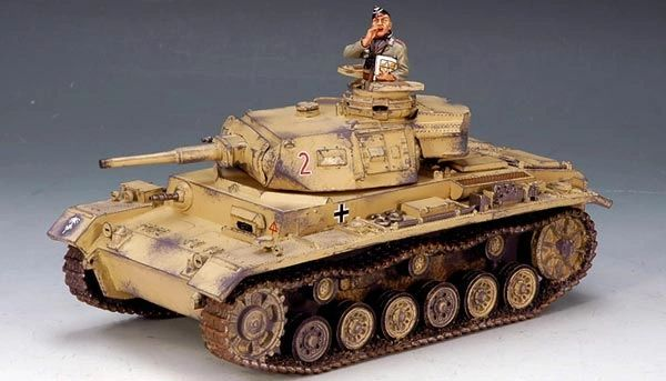 KING AND COUNTRY, AK050, 1/30, AFRIKA KORP PANZER III (BOXED) additional shipping applies